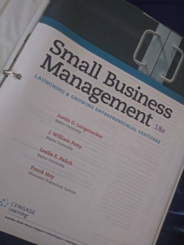 Small biz mgmt book for college