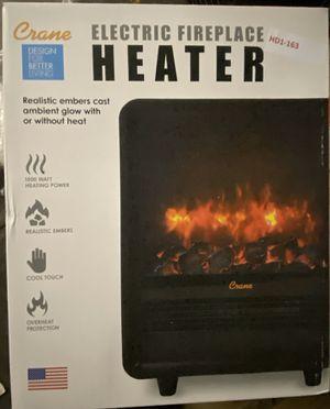 Crane 1500-Watt Mini Fireplace Heater - Black for Sale in Turlock, CA
