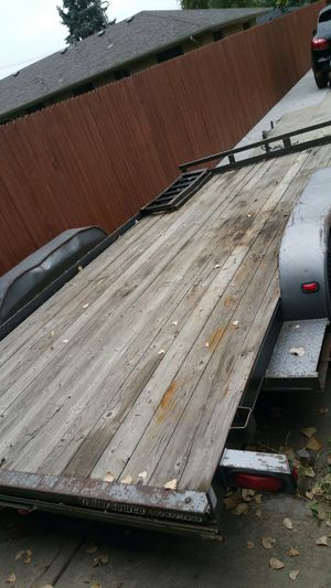 16 x 7 car hauler trailer with electric brakes for Sale in Wheat Ridge, CO