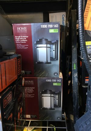 Home decoration small exterior wall mount led lantern each $40 for Sale in Garden Grove, CA