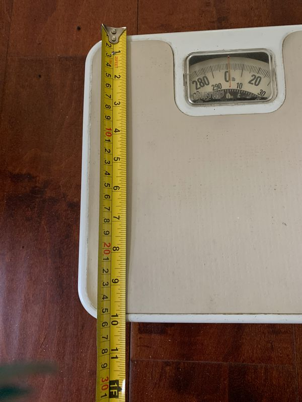 Vintage retro metal METRO Bathroom Scale Medical Body Weight Scale 290 lb Capacity USA made