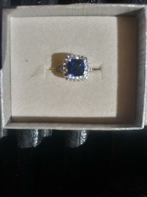 Silver sapphire ring for Sale in Las Vegas, NV