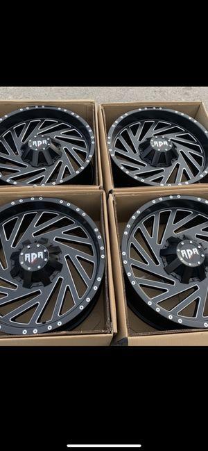 """New 20"""" black RDR Rims 20 Wheels 20s Rines 5 , 6 , 8 lug bolt pattern Ram 1500 / 2500 , Tundra , Ford F150 , Chevy Silverado, GMC Sierra , Toyota Ta for Sale in Dallas, TX"""