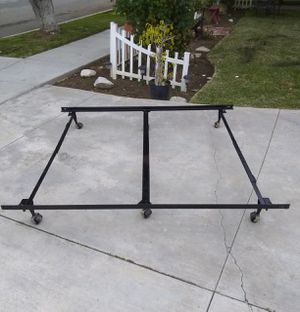 Queen Size Bed Frame with Center Beem for Extra Support for Sale in Whittier, CA
