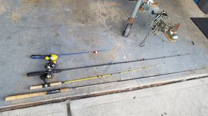 4 fishing poles and 3 reels. for Sale in Portland, OR