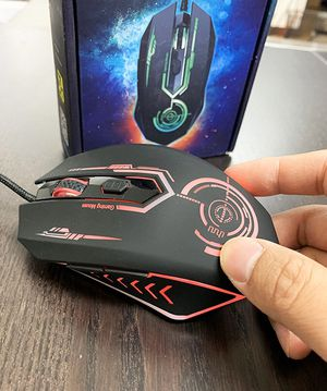 Brand new $10 Gaming Mouse Wired Computer Game Mice Backlit RGB Lighting DPI Shifting for Sale in Pico Rivera, CA