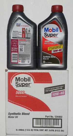 Aceite mobile super 10w-40 para motor gasolina for Sale in Los Angeles, CA