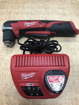 "Milwaukee 2415-21 M12 12V Lithium-Ion Cordless 3/8"" Right-Angle Drill Kit for Sale in Baltimore, MD"