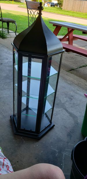 Hexagon curio display cabinet for Sale in Houston, TX