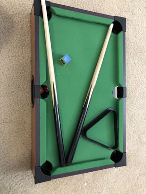 Table top billiards game set for Sale in North Bethesda, MD