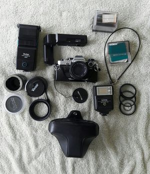 Olympus OM-10 film camera and accessories. Make an offer, list price $250 for Sale in Miami, FL