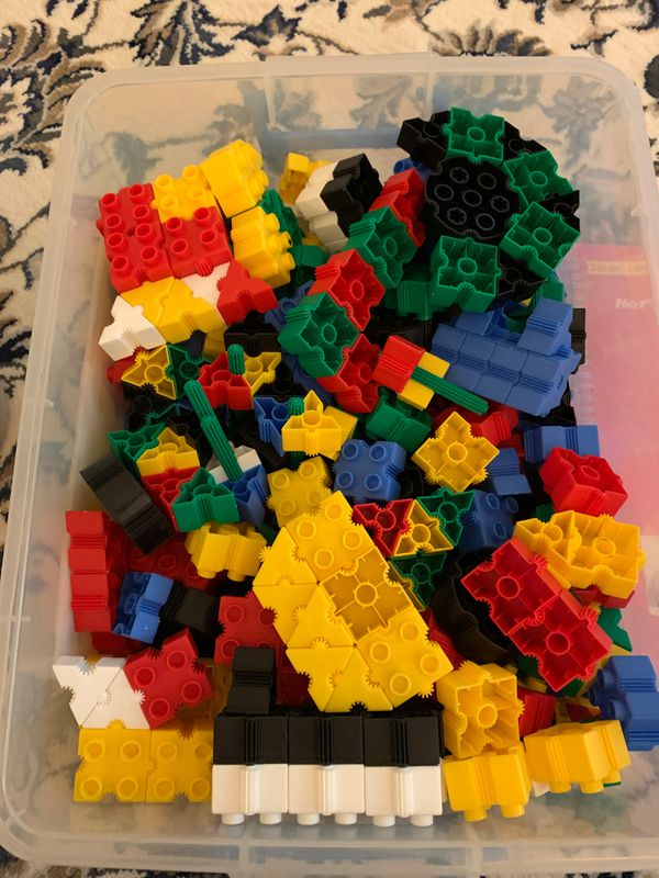 Thinking play book with LEGO pieces