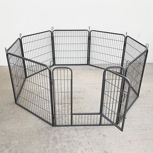 "$90 (new in box) heavy duty 8-panel dog playpen, each panel 32"" tall x 32"" wide pet exercise fence crate kennel gate for Sale in Santa Fe Springs, CA"