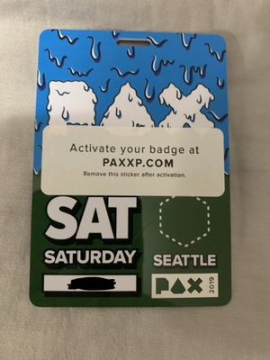 Pax West Saturday Badge for Sale in Burien, WA