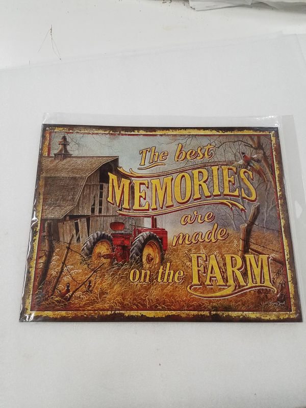 Memories are made on farm farming metal sign