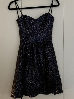New Strapless Blue Sequin Dress size 9/10 for Sale in Willoughby, OH