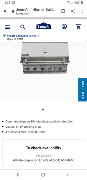 Jenn Air Outdoor 5 Burner Built In BBQ Grill for Sale in Kennesaw, GA