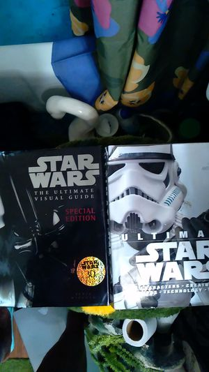 Star wars books the ultimate visual guide ,also the ultimate characters creatures location for Sale in San Antonio, TX