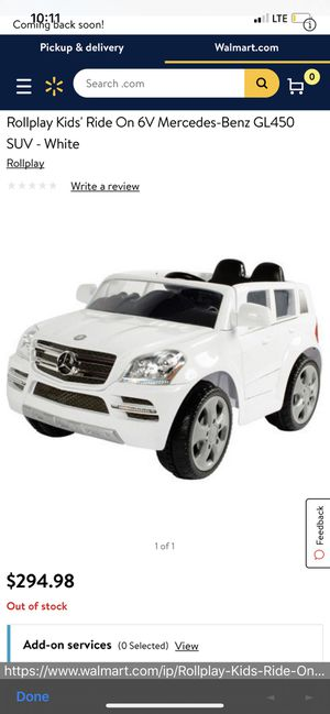 NEW Mercedes Benz SUV electric truck!! for Sale in Las Vegas, NV
