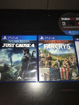 Just cause 4,farcry 5,nba 2k19,nba 2k20,kingdom of hearts for Sale in Richardson, TX