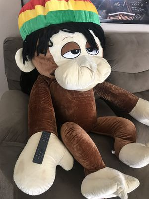 Rasta Monkey Jamaican 5 foot stuffed for Sale in Brentwood, CA