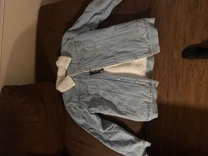 Jean jacket with wool lining for Sale in Washington, DC