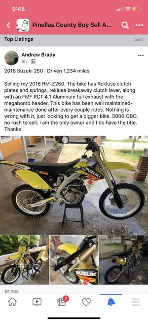 Suzuki RM-Z250 for Sale in Clearwater, FL