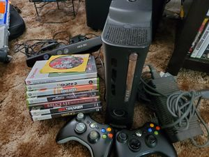Xbox, 2 controllers, kinect, 8 games for Sale in Upland, CA