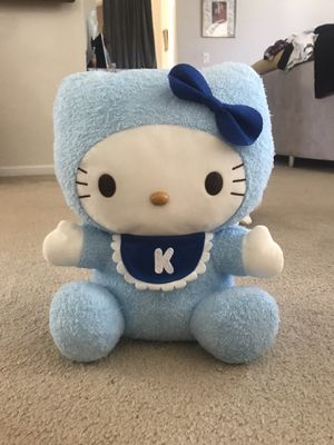 """LARGE 17"""" baby blue Hello Kitty plushie for Sale in Jacksonville, FL"""