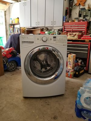 LG dryer, Whirlpool washer, mirror, 55 in rear projection tv for Sale in Spring, TX