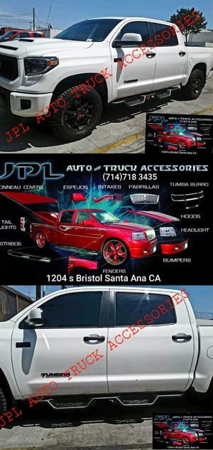 Jeep Silverado Ram Toyota Nissan BED LINERS FOR SALE AND TRUCK STEPS ESTRIBOS NERF BARDS RUNNING BOARDS SIDE STEPS for Sale in Santa Ana, CA