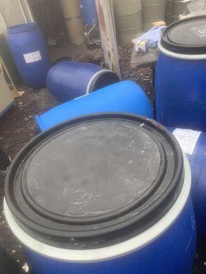 55 gallon plastic barrels for Sale in Bohemia, NY