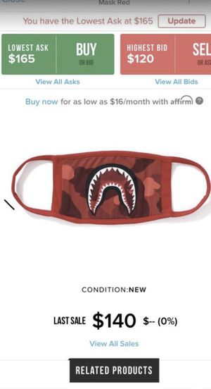 Bape mask authentic masks: please read description for Sale in Anaheim, CA