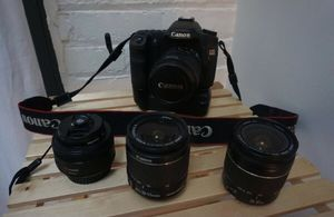 Canon 50D Camera + 3 lenses for Sale in Brooklyn, NY