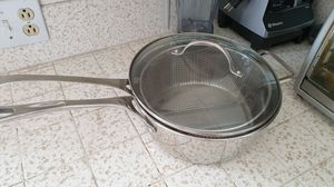 Princess house 6 qt deep saucepan w strainer and lid for Sale in Vista, CA