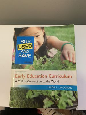 """College book """"Early Education Curriculum"""" by Hilda Jackson for Sale in Athol, MA"""