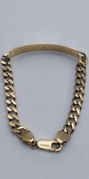 14k Solid Cuban Links ID Bracelet esclava cubana de oro for Sale in Huntington Park, CA