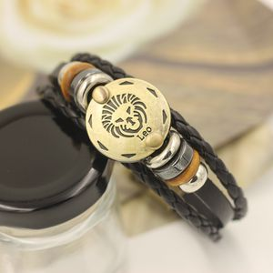 12 Constellations Multilayer Leather Bracelet, Leo for Sale in Los Angeles, CA