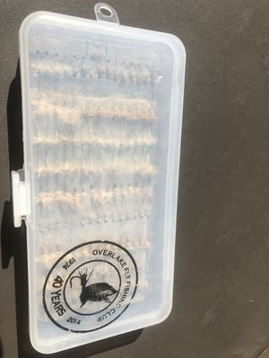 135 fly fishing dry flies with box NEW for Sale in Tacoma, WA