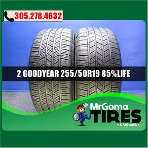 2 GOODYEAR EAGLE LS2 RSC RFT XL 255/50/19 USED TIRES 8.5/32 NO PATCH BMW 2555019 for Sale in Cutler Bay, FL