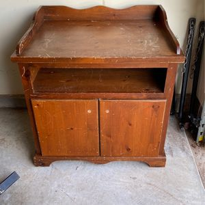 Old Fashioned Buffet or Appliance Stand for Sale in Cary, NC