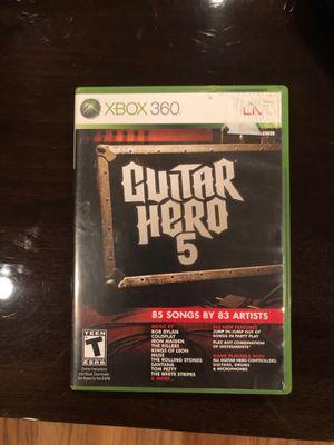 Guitar hero 5 Xbox 360 game for Sale in Dallas, TX