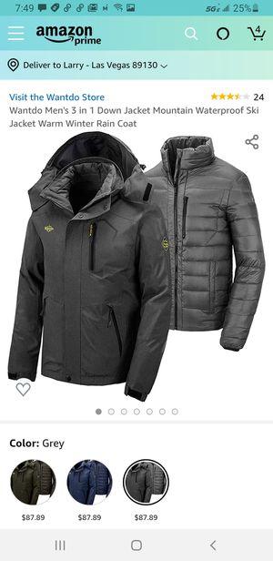 New tags M//Wantdo Men's 3 in 1 Down Jacket Mountain Waterproof Ski Jacket Warm Winter Rain Coat for Sale in Las Vegas, NV