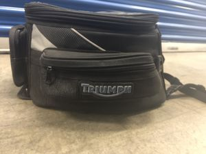 Huge triumph motorcycle magnetic tank bag with rain over. for Sale in Long Beach, CA