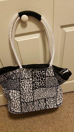 Black & white animal print tote/beach bag for Sale in Croydon, PA