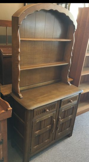 Small all wood hutch shelf with cabinet storage for Sale in Ventura, CA