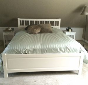 QUEEN BED FRAME + SIDE TABLES x2 for Sale in Aptos, CA