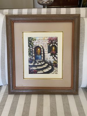 Oil painting with frame for Sale in Miami, FL
