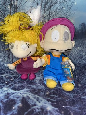 """Collectable Nickelodeon Rugrats Dill & Angelica Pickles 8-10"""" set. for Sale in Long Beach, CA"""