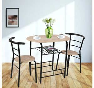 3 pcs dining set 2 chairs and table compact bistro pub breakfast home kitchen for Sale in Rosemead, CA
